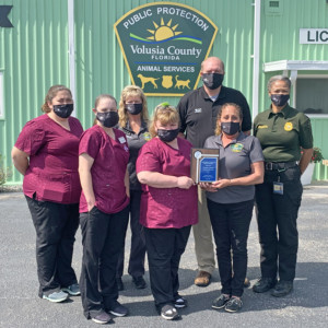 2021 Cooperative Team Achievement - Volusia County Animal Services Forensic Partnership with UF